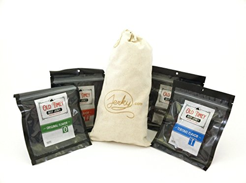 Worlds-Best-Old-Fashioned-Beef-Jerky-Gift-Bag-4-Flavors-of-Traditional-Style-Beef-Jerky-in-a-Custom-Made-Canvas-Bag-Original-Teriyaki-Peppered-Hot-Great-Gift-for-any-Man-0