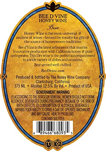 2013-Bee-dVine-Brut-Honey-Wine-aka-Mead-or-Tej-375-mL-0-0