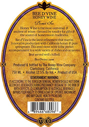 2013-Bee-dVine-Demi-Sec-Honey-Wine-aka-Mead-or-Tej-750-mL-0-0