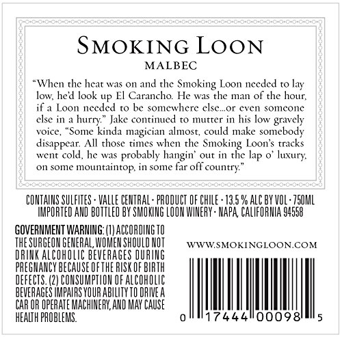 2013-Smoking-Loon-El-Carancho-Malbec-750-mL-Wine-0-0