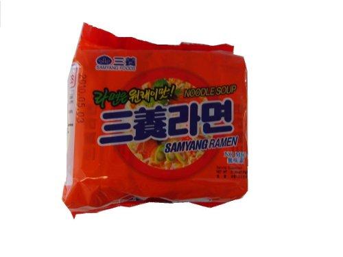 5-Pieces-of-Samyang-Ramen-Hot-Beef-Flavor-Noodle-Soup-423-Oz-120g-X5-Made-in-Korea-0