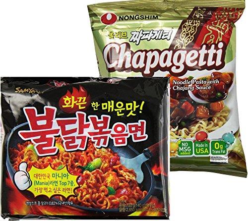 9-PacksSamyang-Buldak-Bokkeum-Spicy-Chicken-Ramen-5-Packs-Nongshim-Chapagetti-Chajang-noodle-ramyun-4-Packs-Combo-0