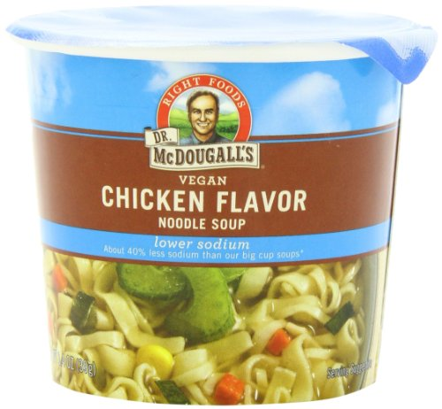Dr-McDougalls-Right-Foods-Vegan-Chicken-Flavor-Noodle-Soup-Light-Sodium-14-Ounce-Cups-Pack-of-6-0