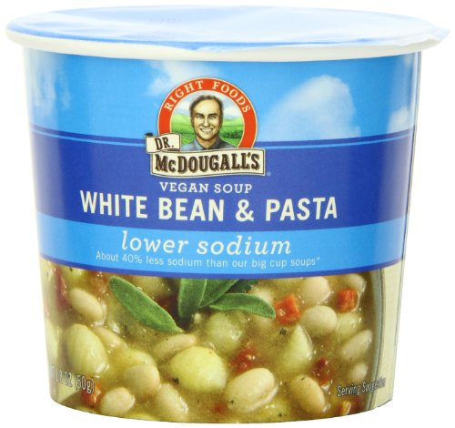 Dr-McDougalls-Right-Foods-Vegan-White-Bean-Pasta-Soup-Light-Sodium-18-Ounce-Cups-Pack-of-6-0