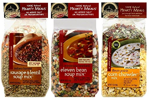 Frontier-Soups-Hearty-Meals-3-Flavor-Variety-Bundle-1-Indiana-Harvest-Sausage-Lentil-1-Minnesota-Heartland-11-Bean-and-1-Illinois-Prairie-Corn-Chowder-16-oz-each-3-Bags-Total-0