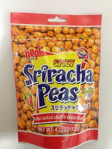 Hapi-Green-Peas-Variety-Bundle-423-oz-Pack-of-4-includes-2-Bags-Spicy-Sriracha-Peas-2-Bags-Hot-Wasabi-Peas-0-1