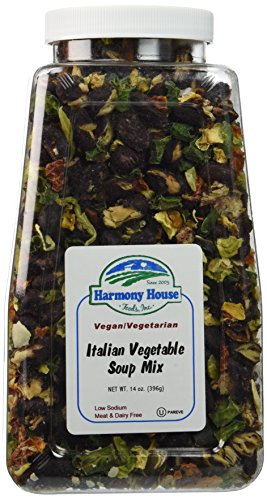 Harmony-House-Foods-Soup-Mix-Italian-Vegetable-Soup-14-Ounce-Quart-Size-Jar-0-0