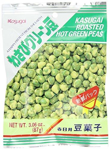 Kasugai-Roasted-Hot-Green-Wasabi-Mame-Green-Peas-306-Ounce-Units-Pack-of-20-0