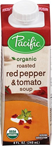 Pacific-Foods-Organic-Soup-Creamy-Roasted-Red-Pepper-and-Tomato-8-Ounce-Pack-of-12-0