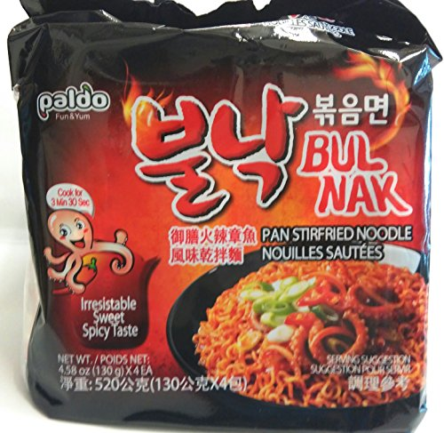 Paldo-Bulnak-Pan-Noodle-Irresistable-Sweet-Spicy-Ramen-Pack-of-4-0