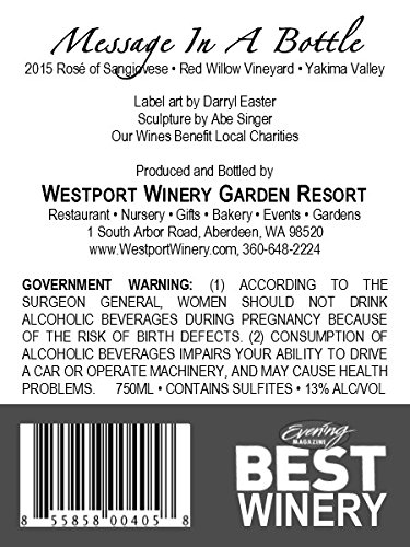 Westport-Winery-Message-in-a-Bottle-Rose-of-Sangiovese-Red-Willow-Vineyard-Yakima-Valley-Benefits-West-Coast-Search-Dogs-of-Washington-0-0